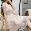 ชุดเดรสเกาหลีพร้อมส่ง Joy Happy Life Luxury Dress thumbnail 2