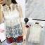 เสื้อผ้าเกาหลีพร้อมมส่ง เสื้อแขนกุดผ้าแก้วปักลายดอกไม้แนวน่ารักๆๆ thumbnail 1
