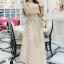 เสื้อผ้าเกาหลี พร้อมส่งGolden Lady Embroidered Luxury Top + Long Skirt Set thumbnail 1