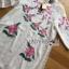 ชุดเดรสเกาหลี พร้อมส่งเดรสสีขาวปักลายดอกกุหลาบอังกฤษสีชมพู thumbnail 10