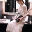 ชุดเดรสเกาหลี พร้อมส่งเดรสผ้าทูลล์ปักลายดอกไม้สีทองสง่าพร้อมสร้อยคอมุก thumbnail 9
