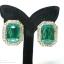 E79035 The Grand Emerald ต่างหูพลอย thumbnail 1