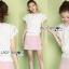 เสื้อผ้าเกาหลี พร้อมส่ง เสื้อผ้าลูกไม้สีขาวสไตล์คลาสสิกวินเทจ thumbnail 3
