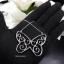 พร้อมส่ง Butterfly Diamond Necklace สร้อยผีเสื้อเพชรงานเพชร CZ thumbnail 5