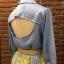 เสื้อผ้าเกาหลี พร้อมส่งAzura Skyblue Shirt + Embroidered Luxury Skirt thumbnail 18