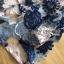 ชุดเดรสเกาหลี พร้อมส่งเดรสผ้าทูลเลปักดอกไม้โทนสีครีมน้ำเงิน thumbnail 15