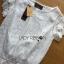 เสื้อผ้าเกาหลี พร้อมส่ง เสื้อผ้าลูกไม้สีขาวสไตล์คลาสสิกวินเทจ thumbnail 9