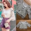 เสื้อผ้าเกาหลีพร้อมส่ง เสื้อผ้าลูกไม้ทอลายดอกไม้พร้อมซับในสายเดี่ยว thumbnail 15