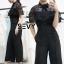 เสื้อผ้าเกาหลี พร้อมส่ง jumpsuit กางเกงขายาว thumbnail 5