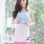 เสื้อผ้าเกาหลีพร้อมส่ง ชุดเซท เสื้อครอป สายหนา ตกแต่งโบว์ thumbnail 5