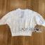 เสื้อผ้าเกาหลี พร้อมส่งจัมเป็นสีขาวตกแต่งผ้าลูกไม้โครเชต์ thumbnail 14