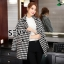 Korea Houndstooth Woolen Coat thumbnail 1