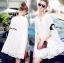 ชุดเดรสเกาหลี พร้อมส่งMini Dress สีขาว ทรงทันสมัย thumbnail 3