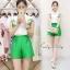 เสื้อผ้าเกาหลี พร้อมส่งZARA Set ตัวเสื้อแขนกุดคอปก thumbnail 1