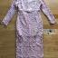 ชุดเดรสเกาหลี พร้อมส่งเดรสผ้าลูกไม้สีชมพูอ่อนสุดหรู thumbnail 9