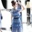 ชุดเดรสเกาหลี พร้อมส่งเดรสผ้าลูกไม้สีฟ้าตกแต่งโบสไตล์ Self-Portrait thumbnail 17