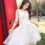 ชุดเดรสเกาหลี พร้อมส่งเดรสยาวสีขาวแขนกุด เนื้อผ้าออแกนซ่า thumbnail 1
