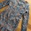 ชุดเดรสเกาหลี พร้อมส่งเดรสผ้าลูกไม้สีฟ้าตกแต่งชายระบาย thumbnail 7