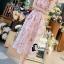 ชุดเดรสเกาหลี พร้อมส่งlong dress สีหวานสายเดี่ยวแบบผูก thumbnail 1