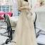 เสื้อผ้าเกาหลี พร้อมส่งGolden Lady Embroidered Luxury Top + Long Skirt Set thumbnail 2