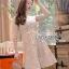 ชุดเดรสเกาหลี พร้อมส่งมินิเดรสผ้าลูกไม้ปักลายดอกไม้สีพาสเทล thumbnail 8