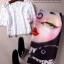 เสื้อผ้าเกาหลี พร้อมส่ง เสื้อลูกไม้ฝรั่งเศษ ถักเนื้อแน่น กระโปรงทรงสอบยาว thumbnail 3