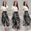 เสื้อผ้าเกาหลี พร้อมส่ง Zara White Top + Black Tiger Line Set thumbnail 8