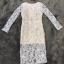 ชุดเดรสเกาหลี พร้อมส่งชุดLong dress ลูกไม้สีเทาเรียบหรู thumbnail 5