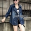 Gracie Fall Winter Double-Breasted Denim Coat thumbnail 1