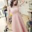 ชุดเดรสเกาหลี พร้อมส่งเดรสยาวสีชมพู thumbnail 5