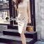 Waisty Concave Nood Color Dress thumbnail 3