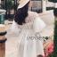 เสื้อผ้าเกาหลี พร้อมส่งเชิ้ตเดรสผ้าคอตตอนสีขาวตกแต่งลูกไม้สไตล์มินิมัลชิค thumbnail 10