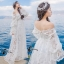 ชุเดรสเกาหลี พร้อมส่งBeach Angel Luxury White Lace Dress thumbnail 11