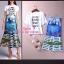 เสื้อผ้าเกาหลี พร้อมส่ง D&G SET กระโปรงทรงเอวสูง ปริ้นลายD&G สีคมชัด+เสื้อพื้นขาว thumbnail 2