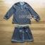 เสื้อผ้าเกาหลี พร้อมส่งเซ็ตเสื้อและกระโปรงลายดอกไม้จุดสีขาวดำสไตล์โบฮีเมียน thumbnail 17