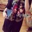 เสื้อผ้าเกาหลี พร้อมส่งเชิ้ตเดรสปักลายดอกไม้สไตล์วินเทจ thumbnail 4