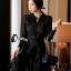 ชุดเดรสเกาหลี พร้อมส่งMini dress ลูกไม้แขนยาวสีดำ thumbnail 1