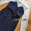 ชุดเดรสเกาหลี พร้อมส่งเดรสผ้าลูกไม้ทับด้วยเกาะอกทรงเทรนช์โค้ท thumbnail 7