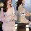 เสื้อผ้าเกาหลี พร้อมส่งค็อกเทลเดรสผ้าลูกไม้และชีฟองสีโอลด์โรส thumbnail 12