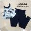 เสื้อผ้าแฟชั่น พร้อมส่ง เสื้อคล้องคอดีไซด์เก๋ มาเปนชุดคู่กับกางเกงทรงสกินนี่ thumbnail 3