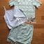 เสื้อผ้าเกาหลี พร้อมส่งเซ็ตเสื้อและกระโปรงผ้าลูกไม้สีเขียวมิ้น์สไตล์เฟมินีน thumbnail 16