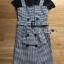 เสื้อผ้าเกาหลีพร้อมส่ง เซ็ตเสื้อยืดสีดำทับด้วยเดรสลายตารางต thumbnail 12
