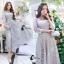 ชุดเดรสเกาหลี พร้อมส่งMiss Grey Princess Stylish Luxury Long Dress thumbnail 3