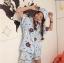 เสื้อผ้าเกาหลีพร้อมส่งชุดนอนลายการ์ตูน เซตชุดนอน 3 ชิ้น thumbnail 2
