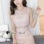 ชุดเดรสเกาหลี พร้อมส่งPastel Pinky Cami Lace Dress thumbnail 7