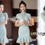 ชุดเดรสเกาหลี พร้อมส่งเดรสผ้าลูกไม้สีเขียวมิ้นท์สไตล์เปรี้ยวอมหวาน thumbnail 7