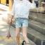 เสื้อผ้าแฟชั่น พร้อมส่งKorean Summer Time Lace Shirt thumbnail 6