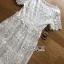 ชุดเดรสเกาหลี พร้อมส่งเดรสยาวผ้าลูกไม้สีขาวสไตล์ลำลอง thumbnail 17