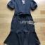 Anastasia Smart Casual Black Peplum Dress thumbnail 7