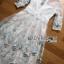 ชุดเดรสเกาหลี พร้อมส่งเดรสยาวผ้าทูลเลปักผีเสื้อสีฟ้า3D สไตล์เจ้าหญิง thumbnail 13